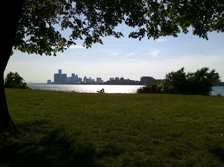 The Detroit Skyline as seen from Belle Isle