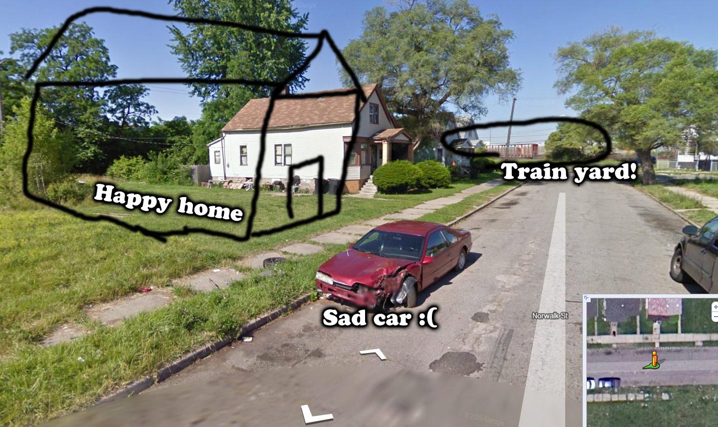 My original home in Detroit, Michigan