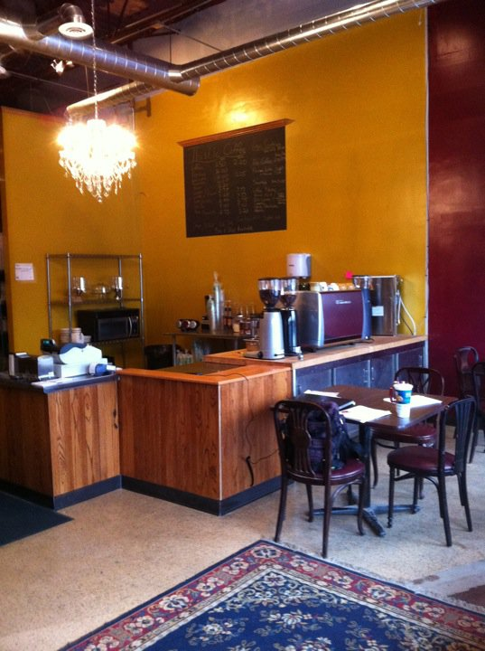 Interior of Thistle Coffee in Detroit