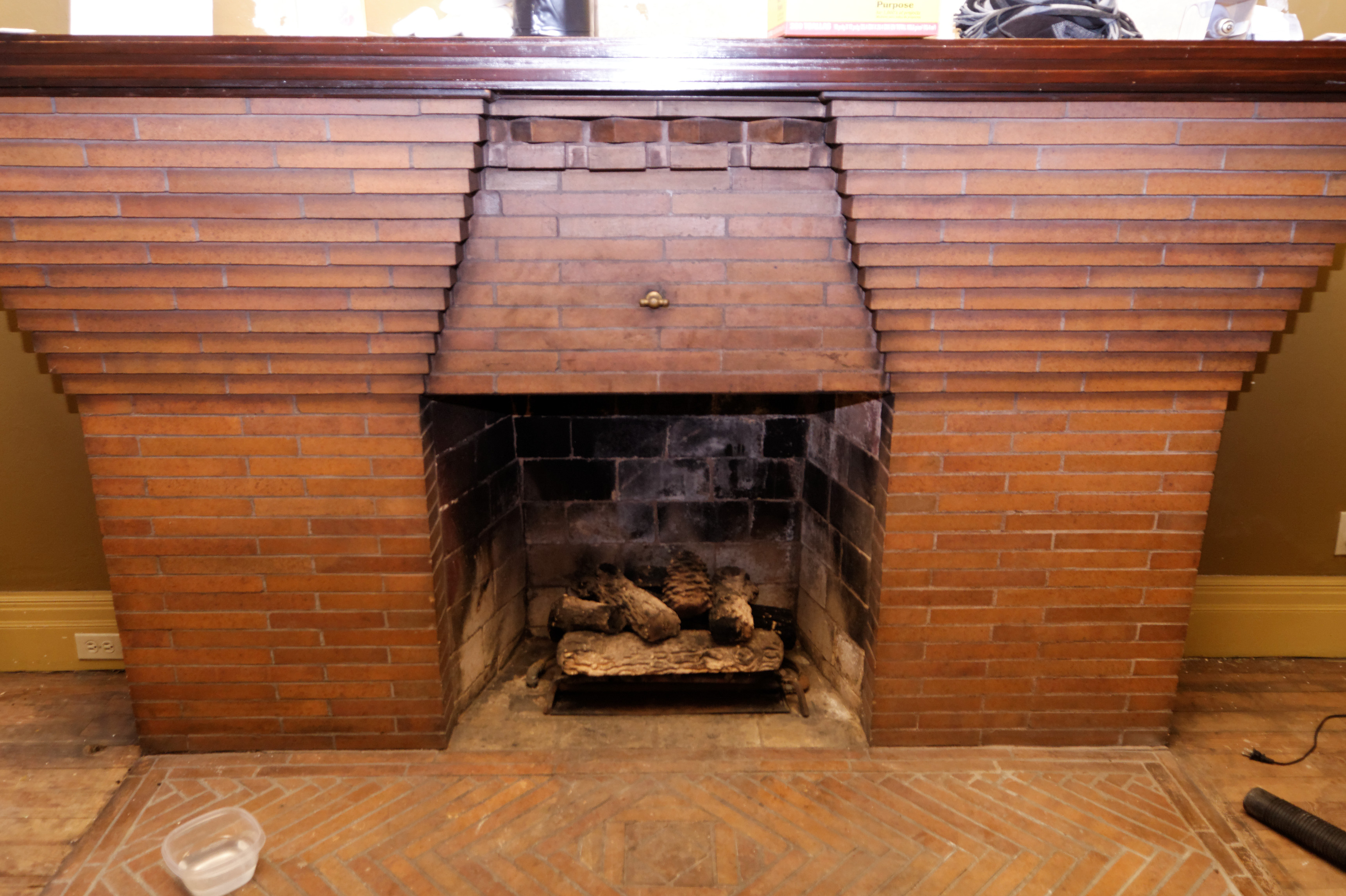 A clean fireplace