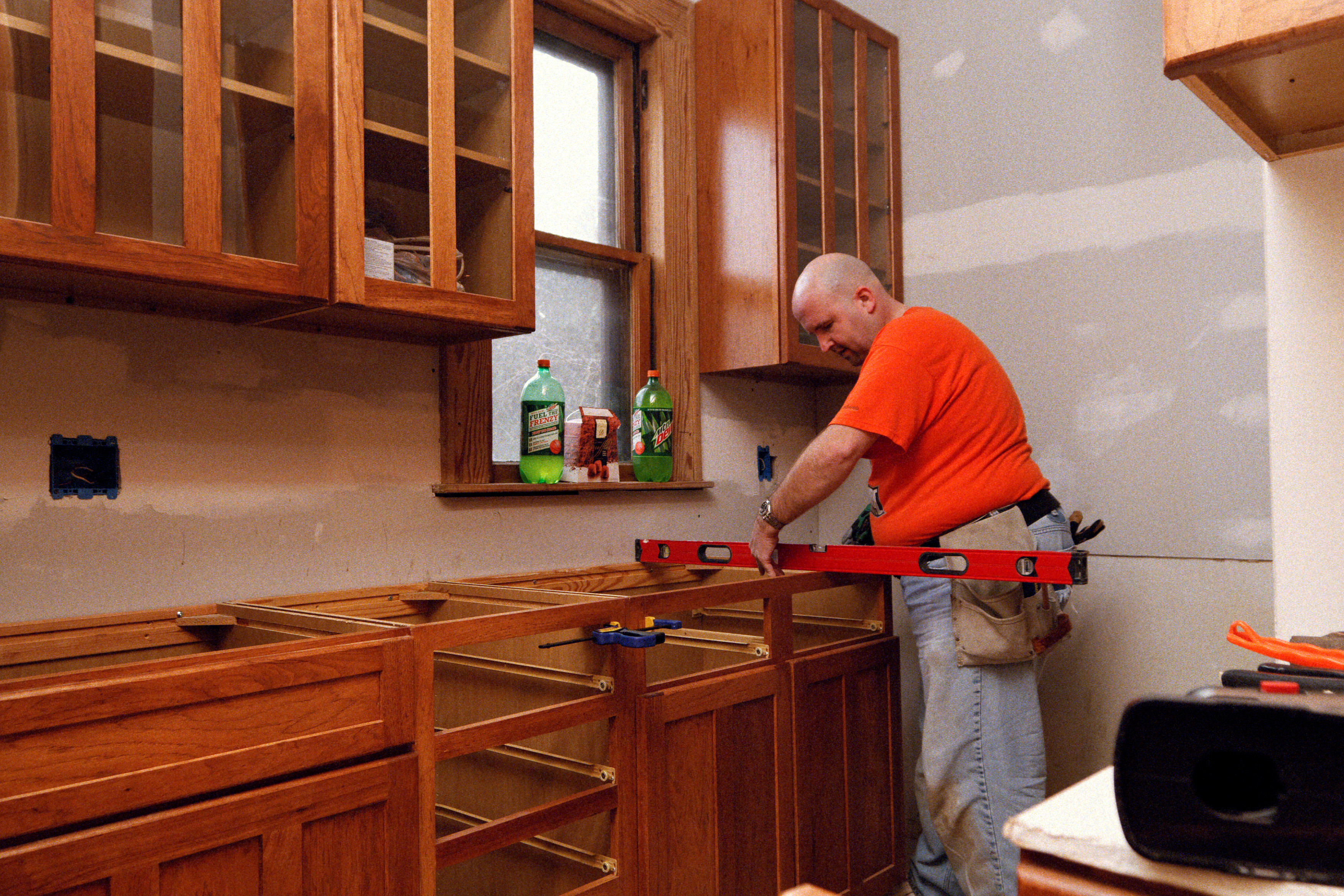 Measuring for cabinets