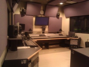 A production booth at the Detroit School of Arts