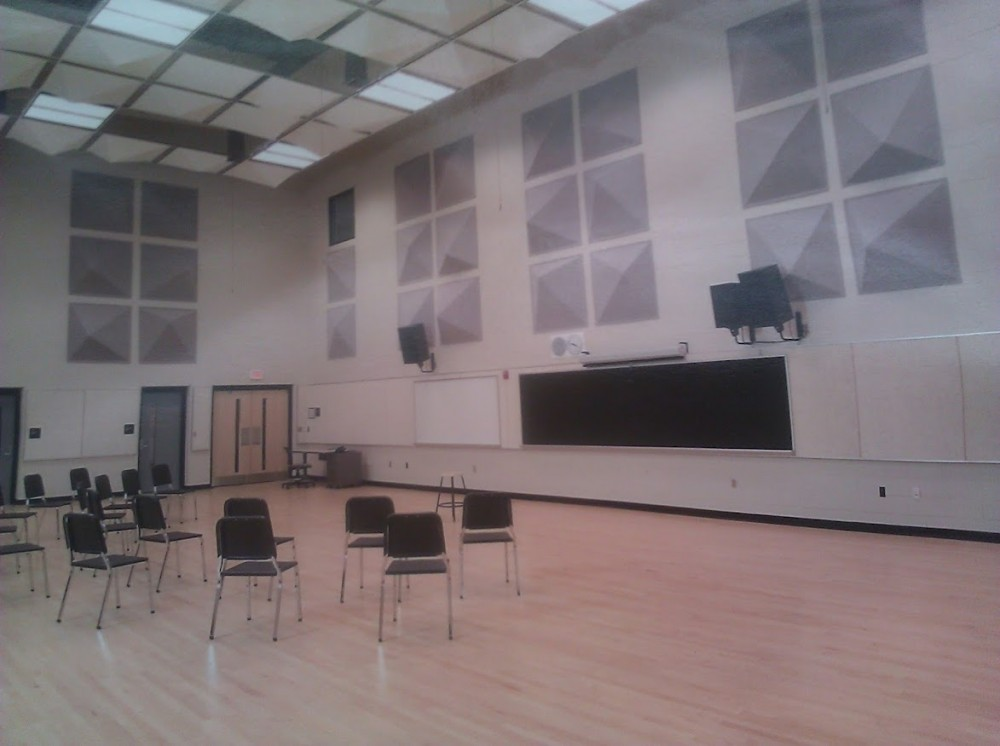 The band room at the Detroit School of Arts