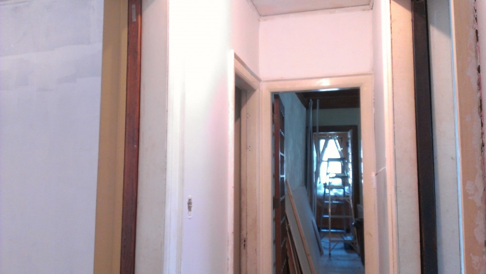 Primer on walls in Sullivan house