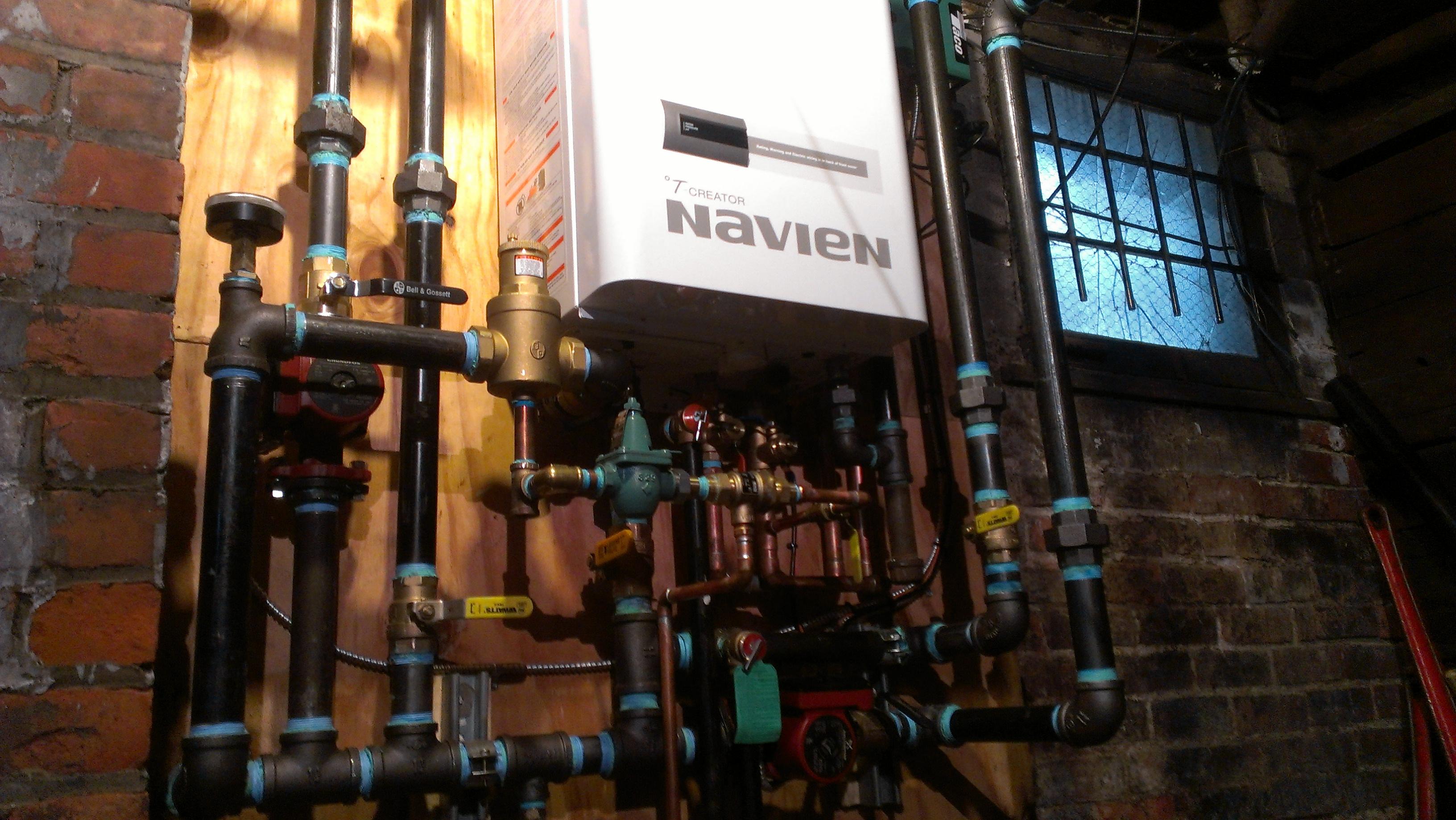 Navien UHE condensing boiler