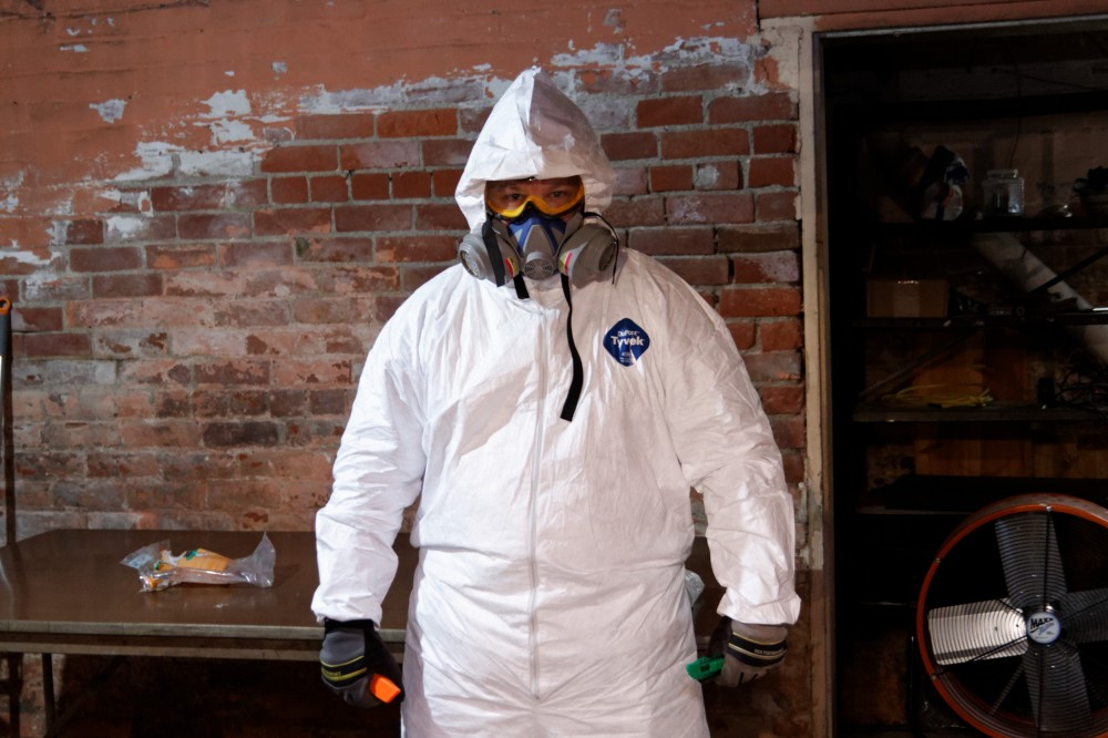 All geared up for asbestos abatement