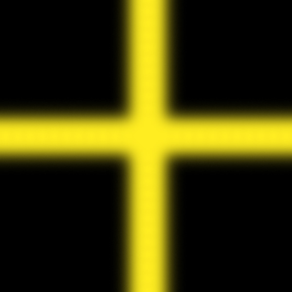 Black square with yellow cross Detroit