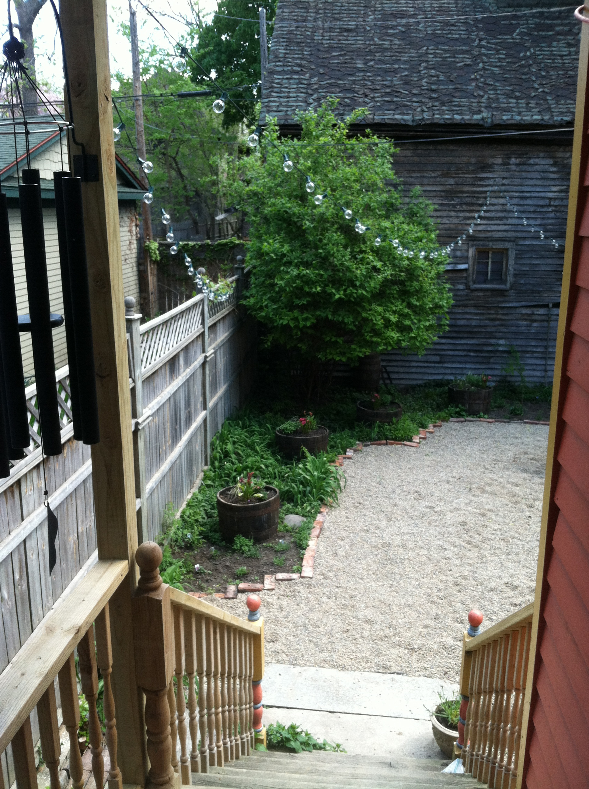View from the backdoor.